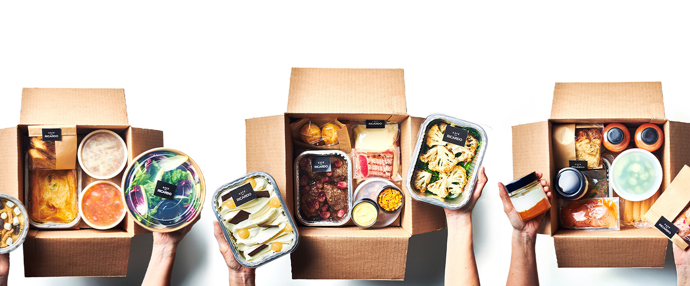 3 nouvelles boîtes-repas RICARDO pour braver l'hiver