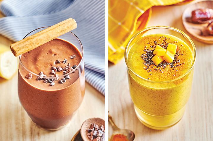 3 recettes de smoothies colorés à base de plantes