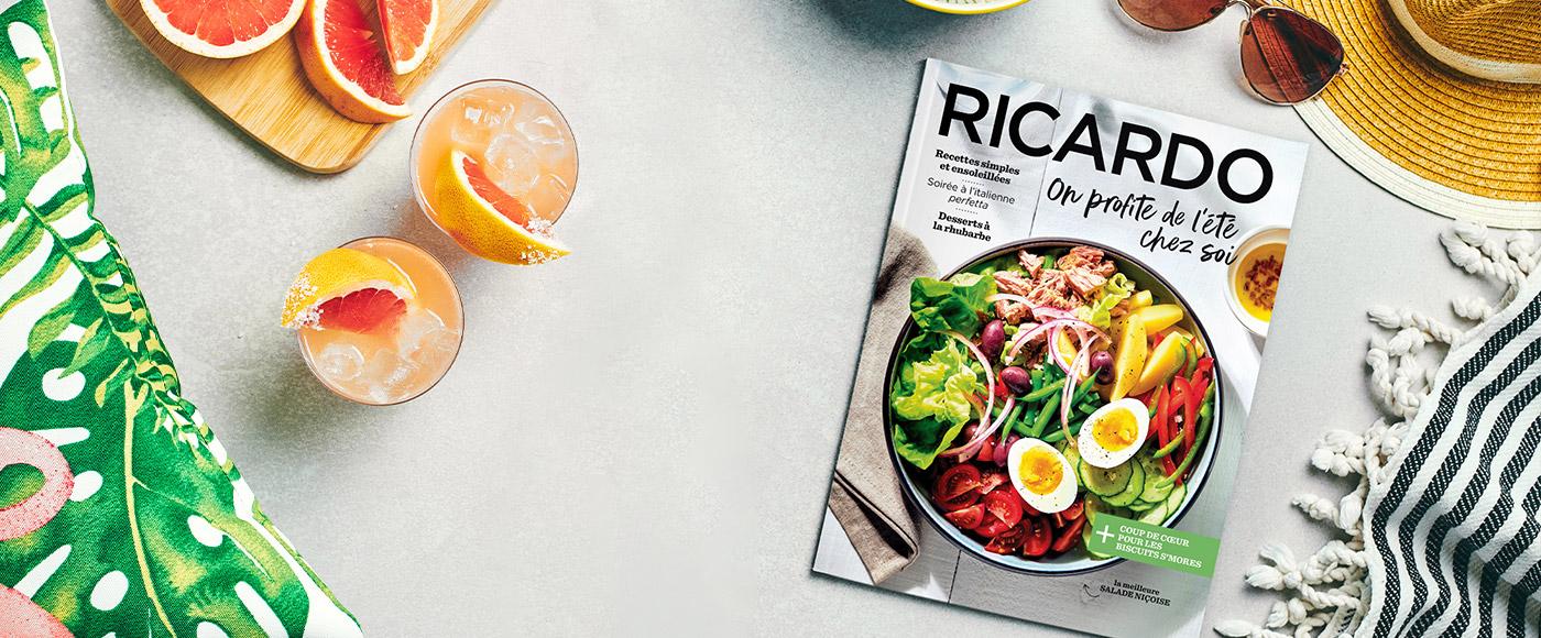 On profite de l'été chez soi avec le nouveau magazine RICARDO!