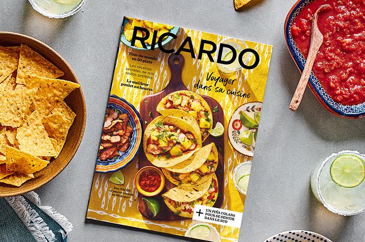 Voyager dans votre cuisine avec le nouveau magazine RICARDO!