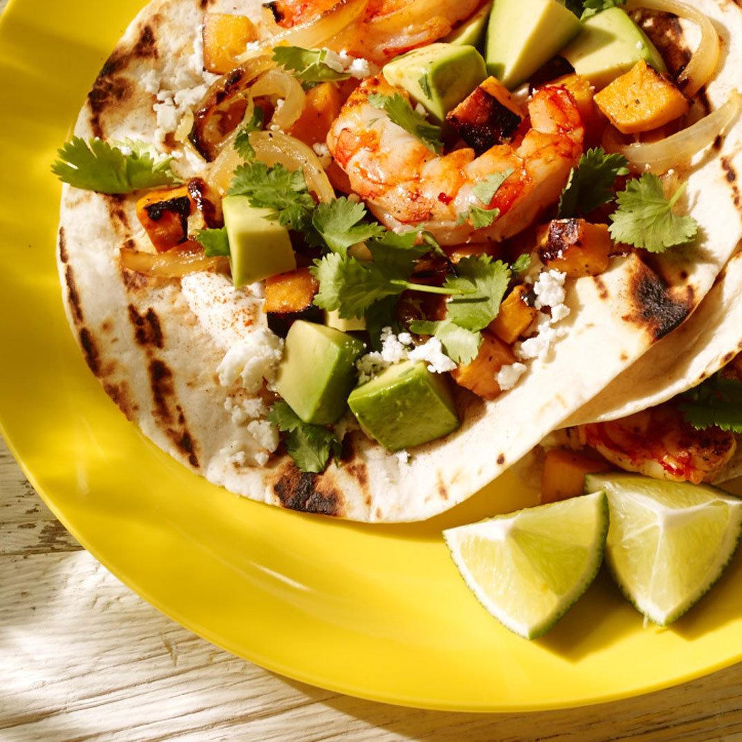 Chipotle Shrimp and Sweet Potato Tacos