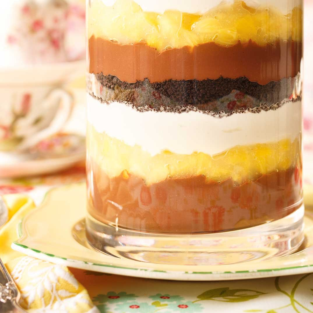 <i>Trifle</i> au chocolat et à l'ananas