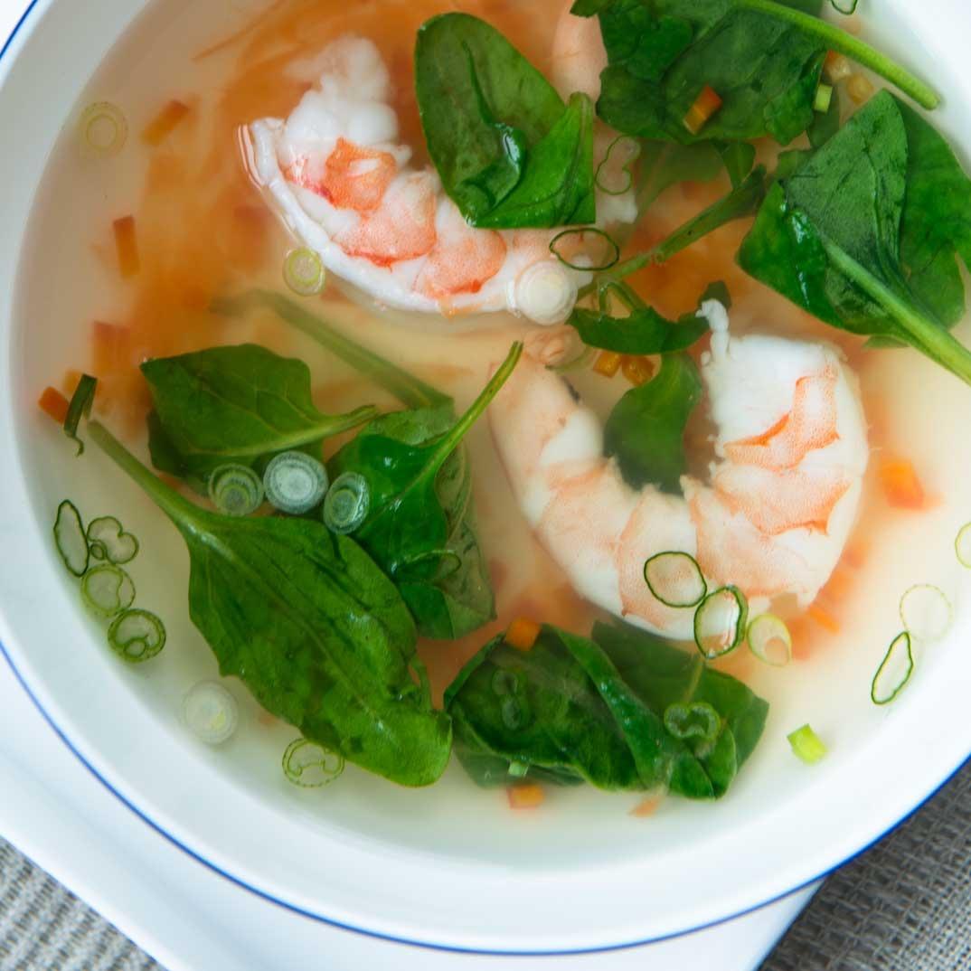 Maple Sap and Shrimp Soup