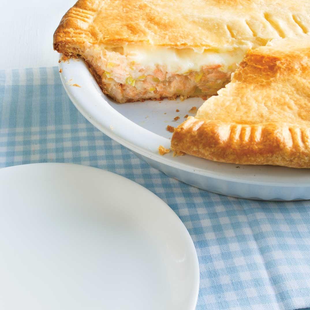 Pâté au saumon et béchamel surprise de Brigitte