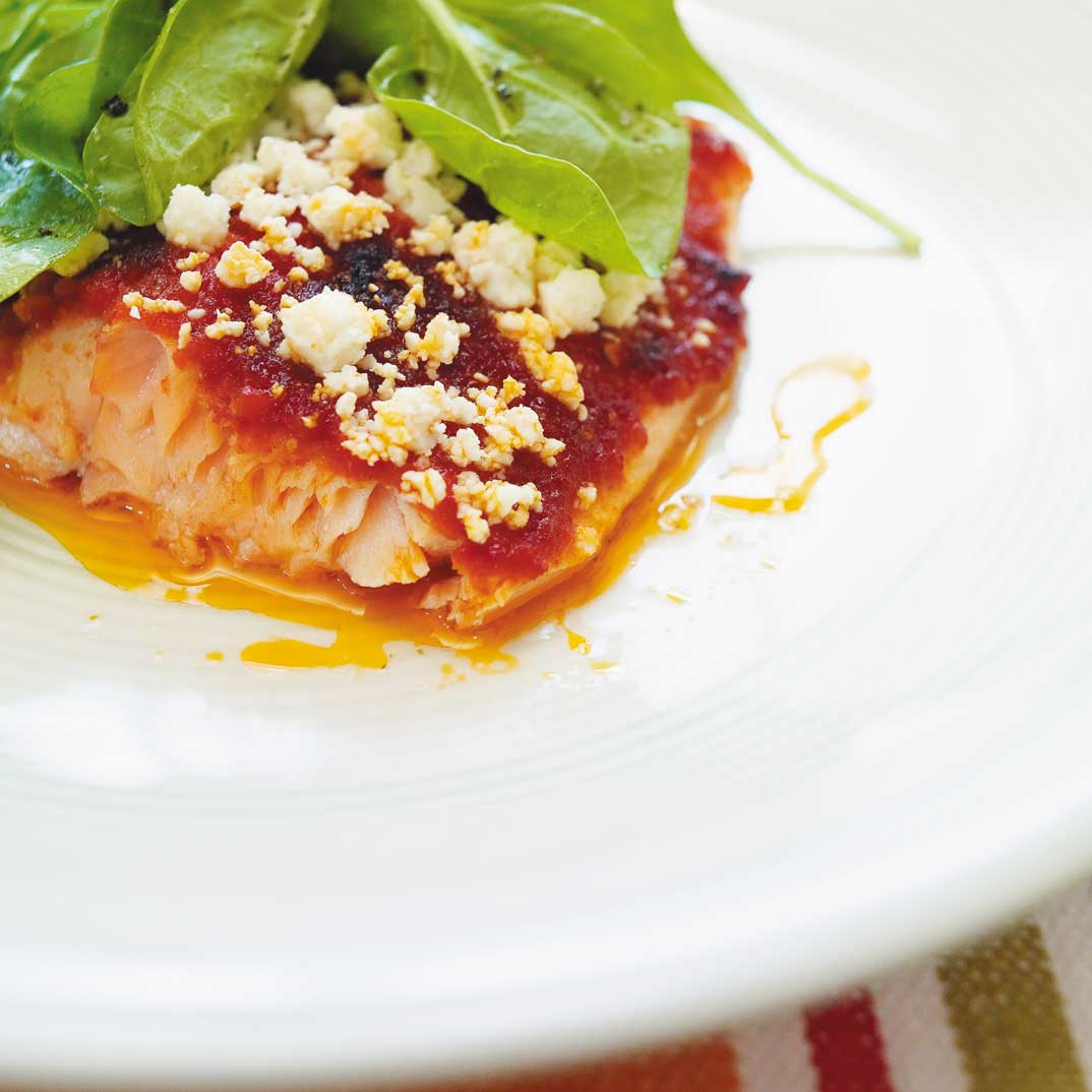 Broiled Trout with Sun-Dried Tomato Pesto