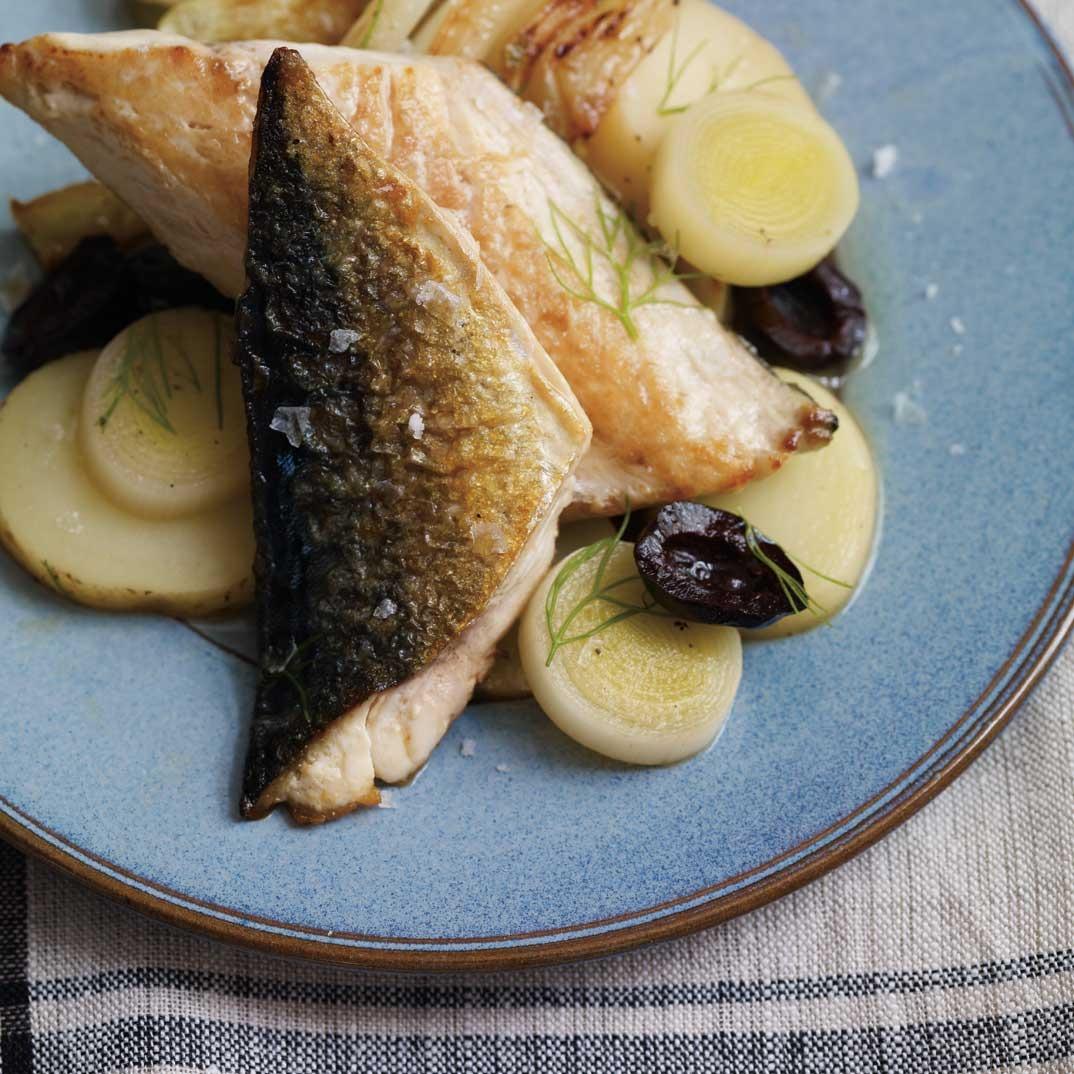 Maquereau au fenouil et pommes de terre aux olives
