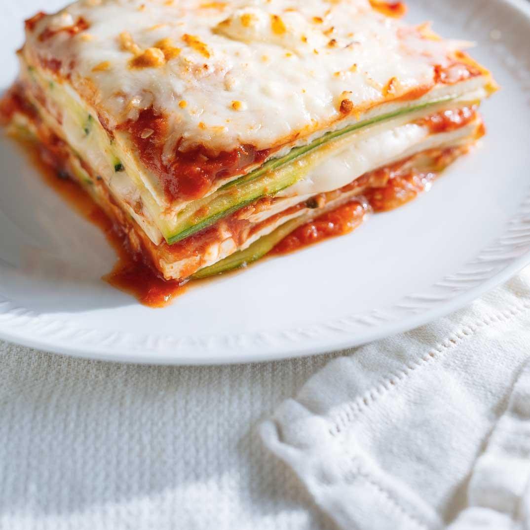Courgettes et tofu <i>alla parmigiana</i>