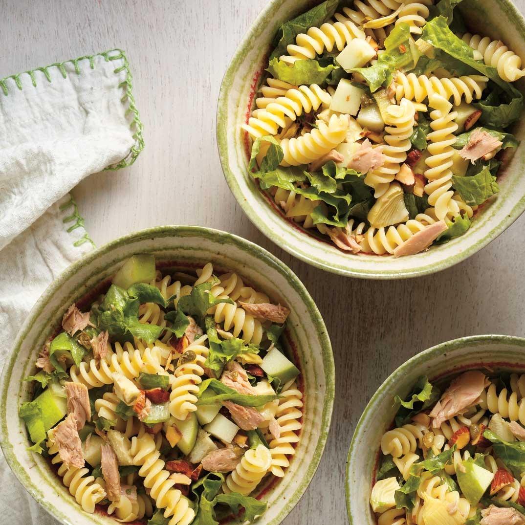 Pasta, Tuna, Apple and Artichoke Salad