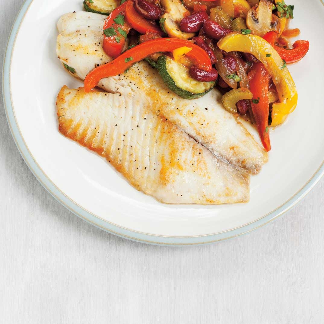 Seared Tilapia and Vegetable Stir-Fry