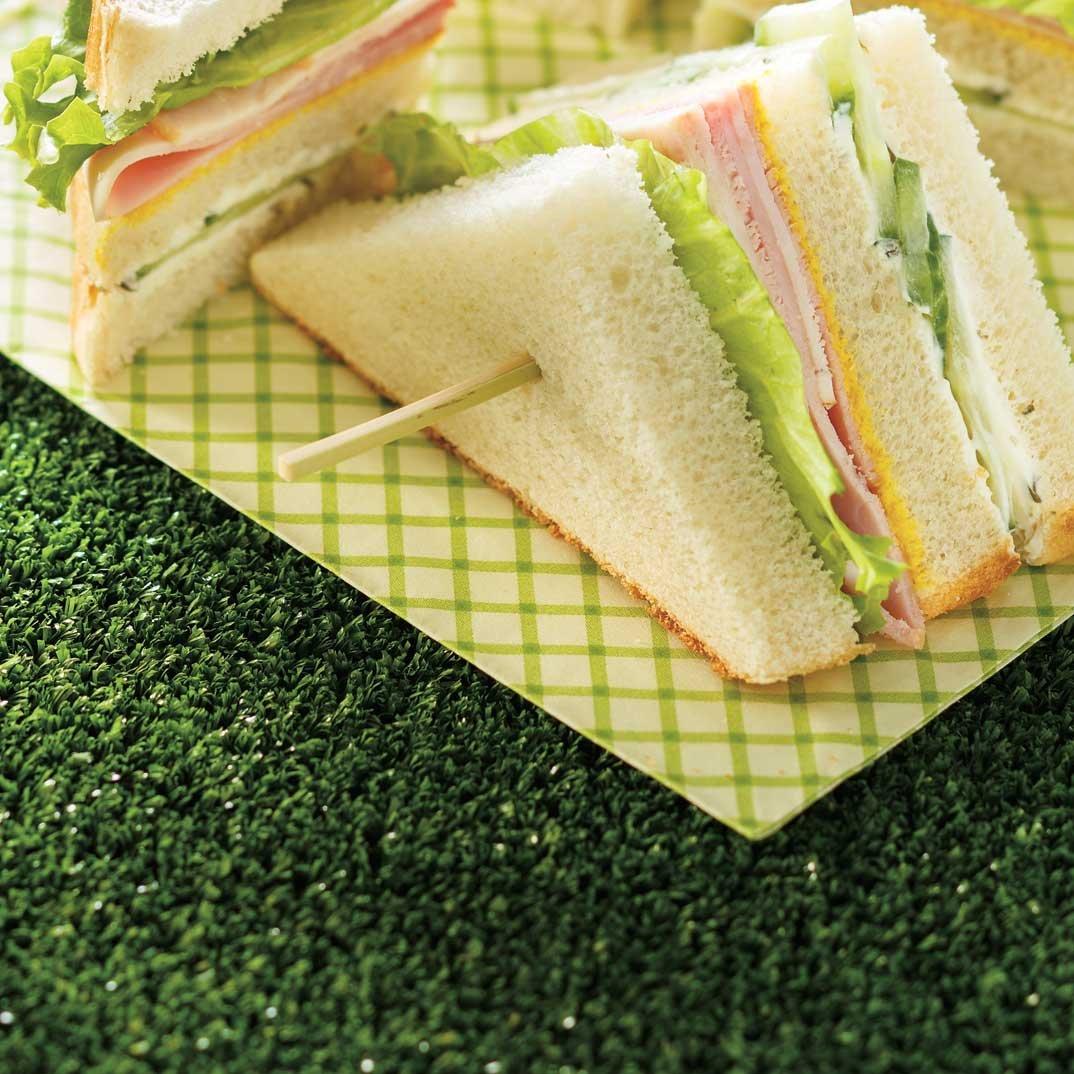 Sandwich 3 étages d'avant ou d'après-match