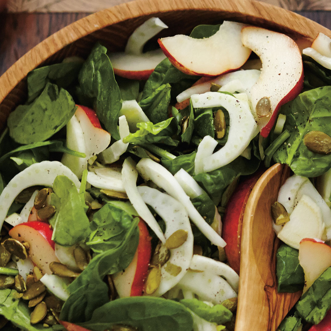 Spinach, Fennel and Red Pear Salad
