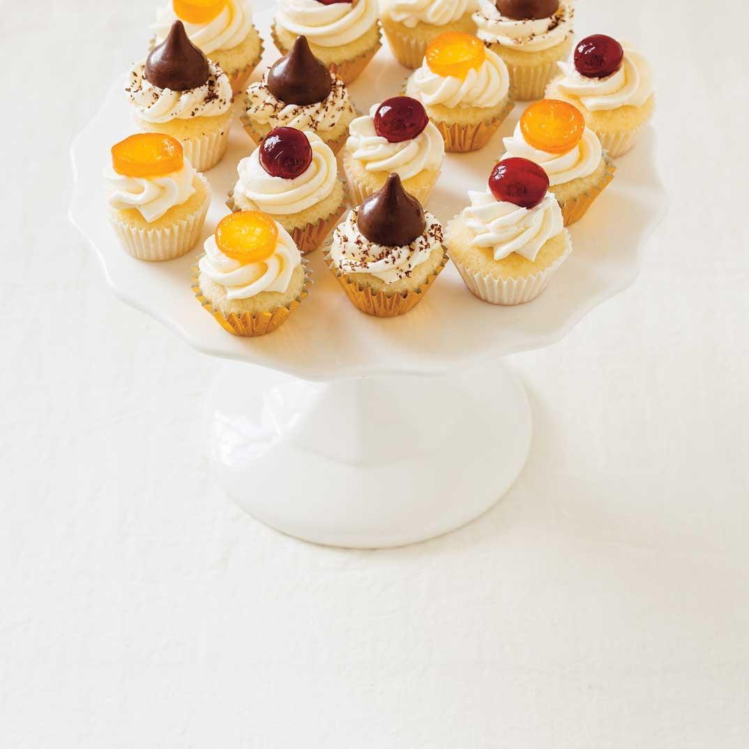 Mini-cupcakes à la vanille