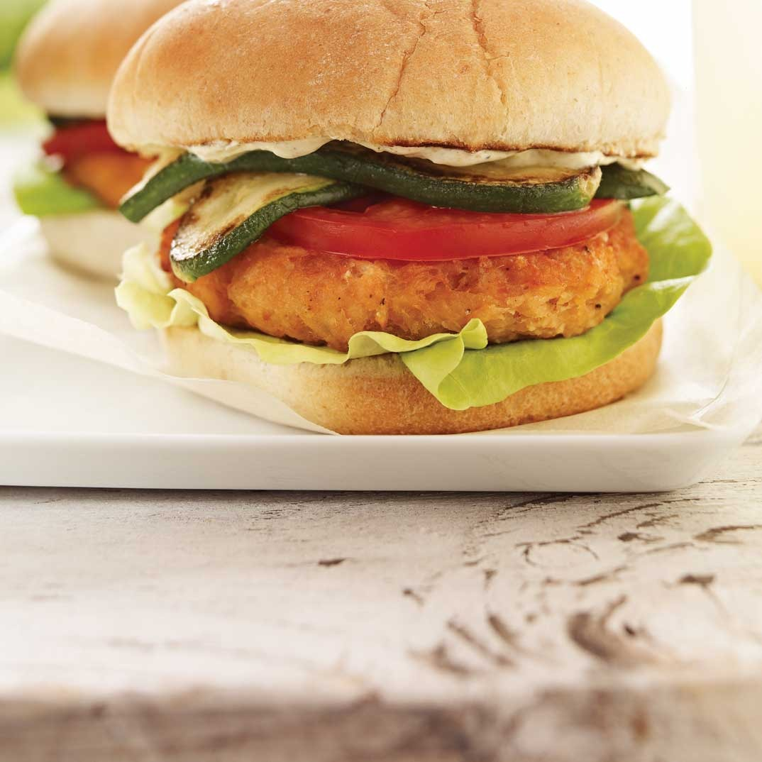 Salmon Burgers with Curry Sauce