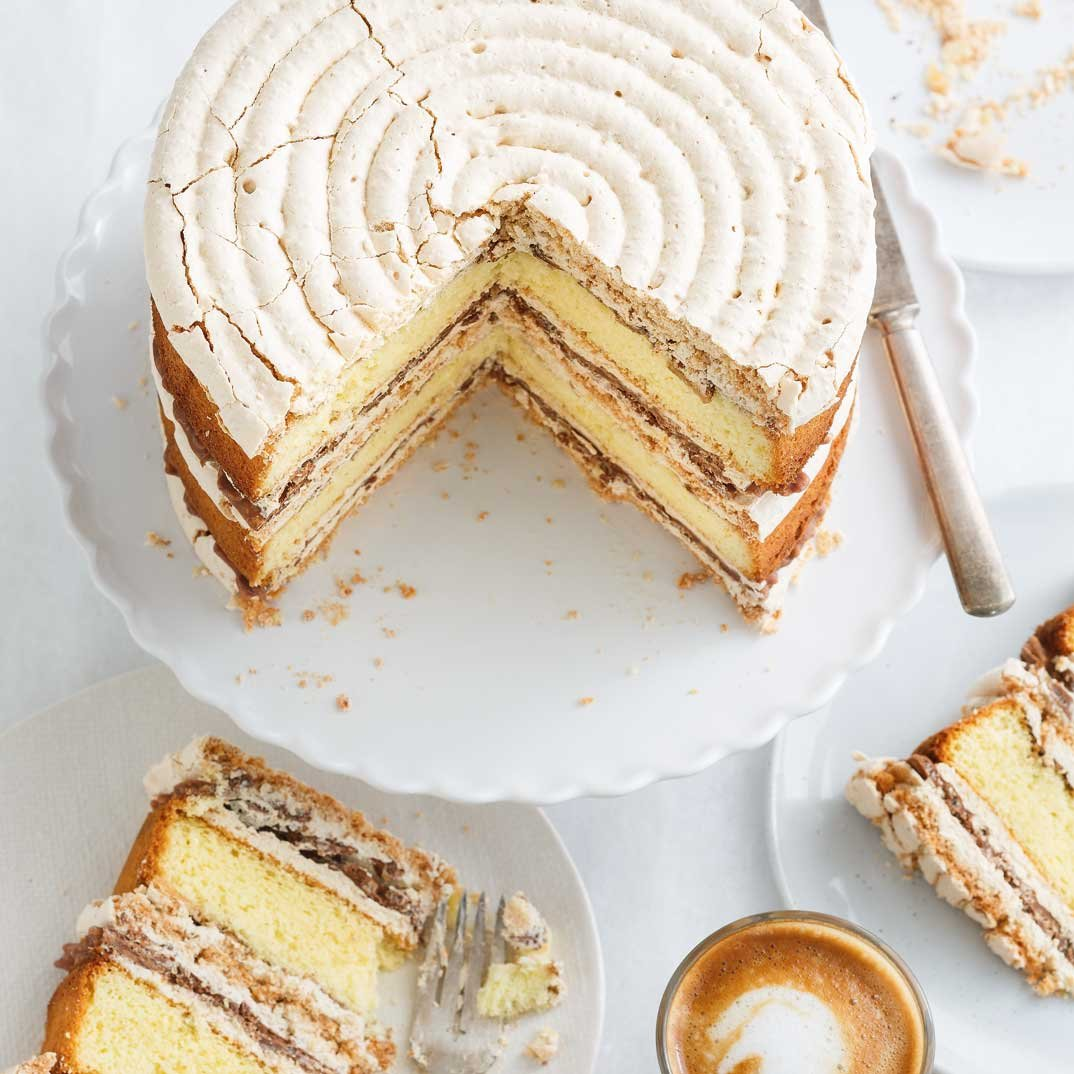 Crispy Coffee Almond Cake