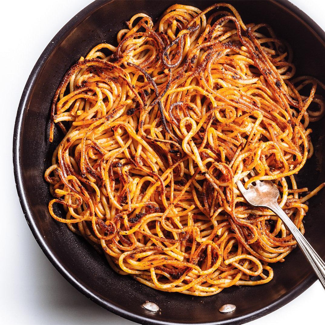 Crusty Spaghetti