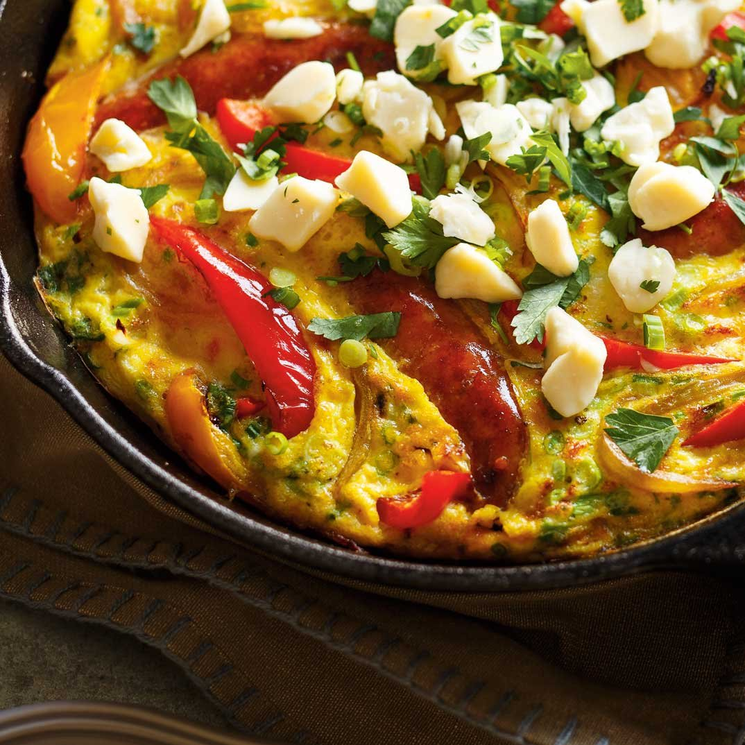 Cheese Curd and Sausage Frittata