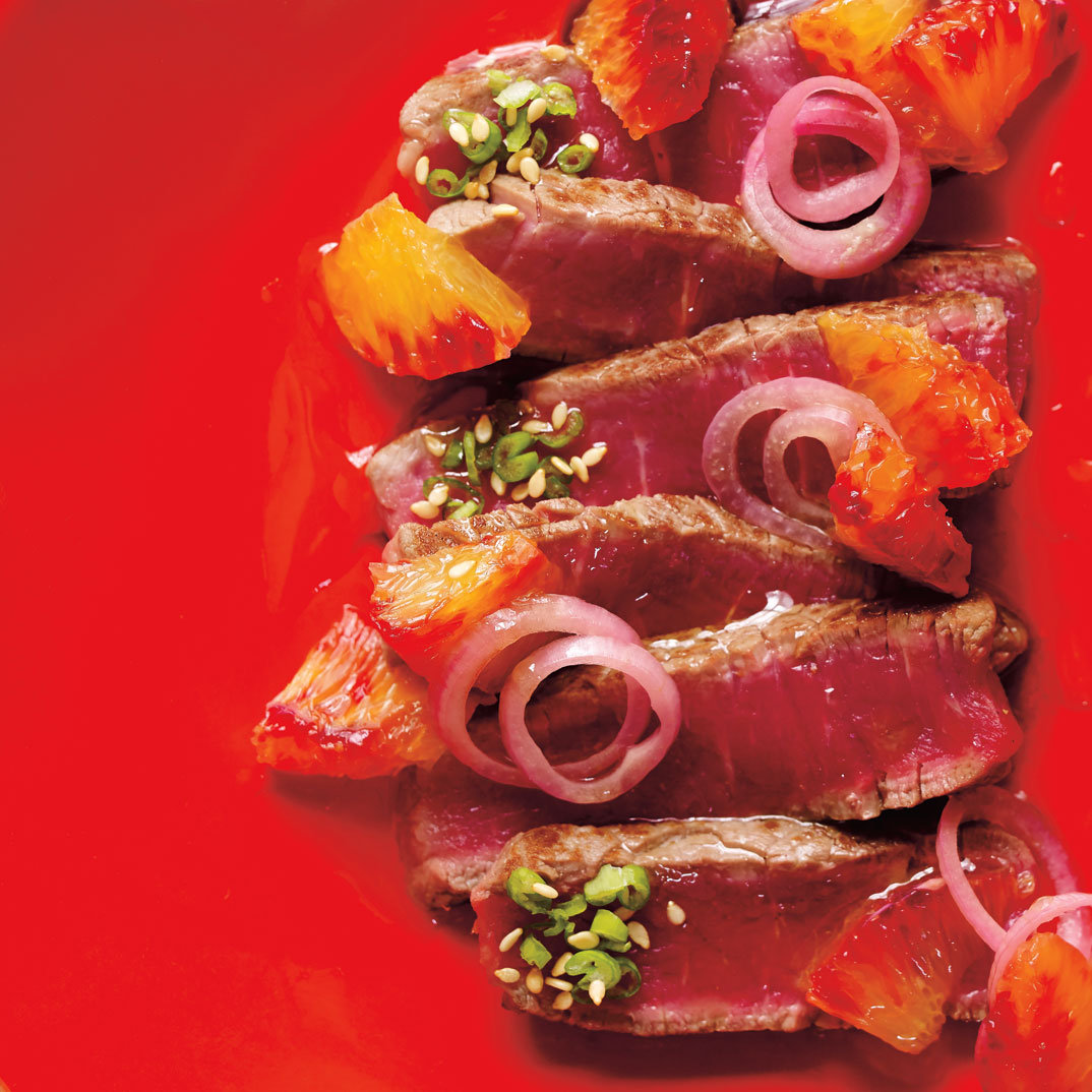 Blood Orange Beef Tataki
