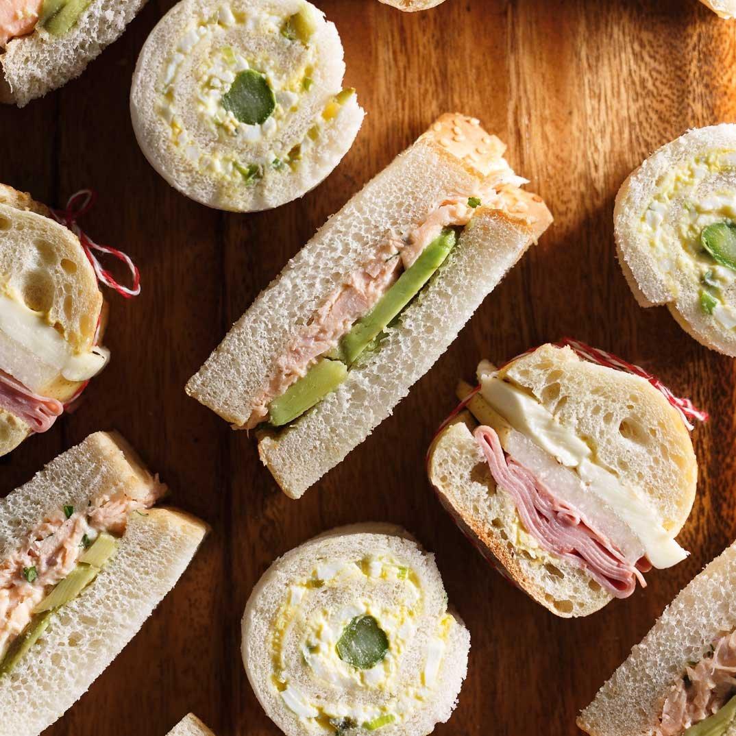 Sandwichs roulés aux oeufs