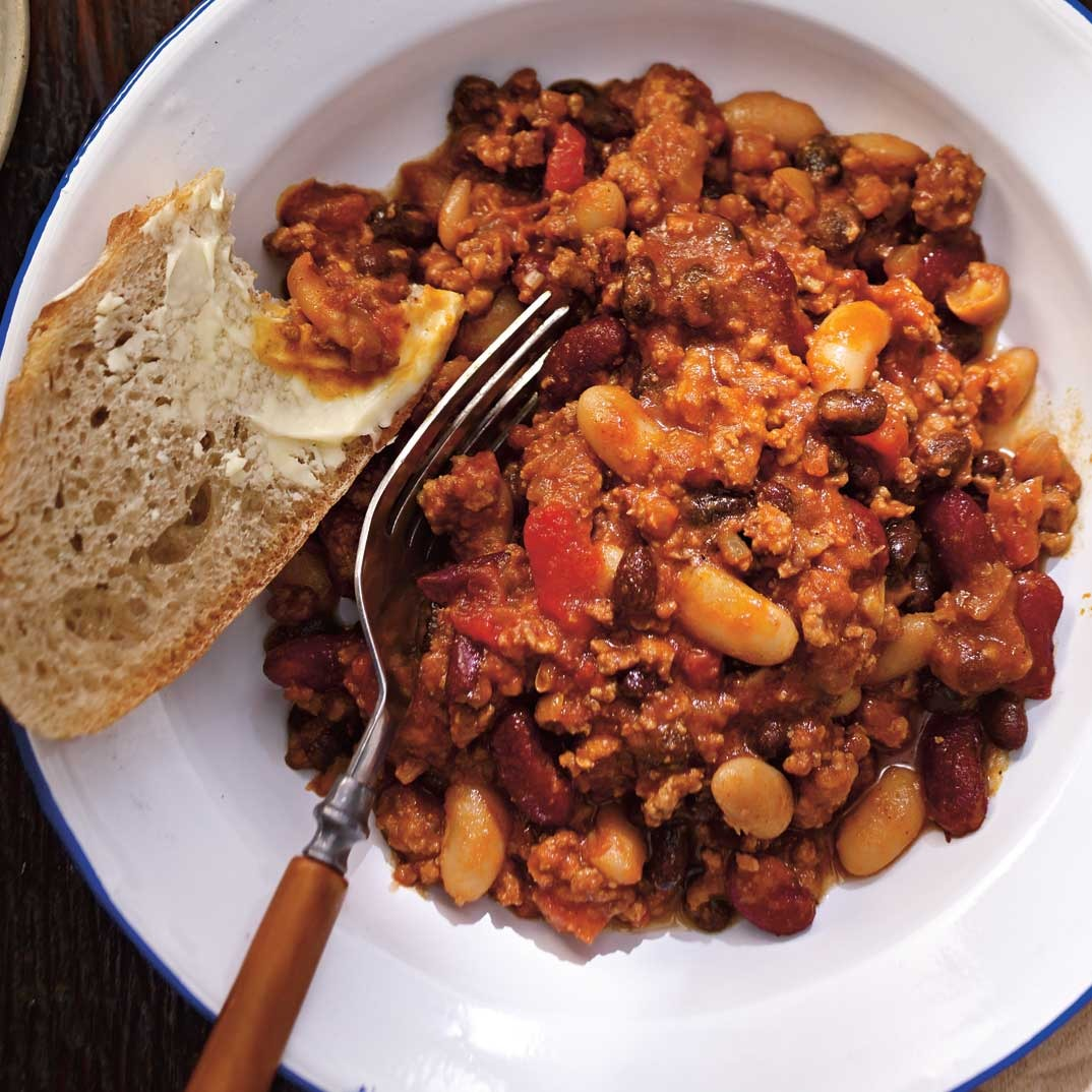 Three-Bean and Pork Chili