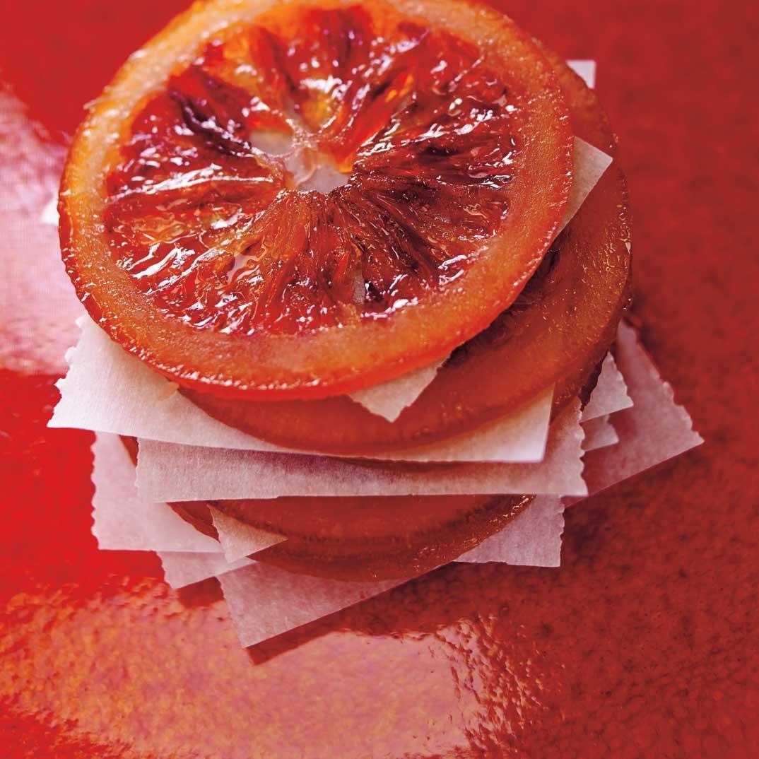 Oranges sanguines confites