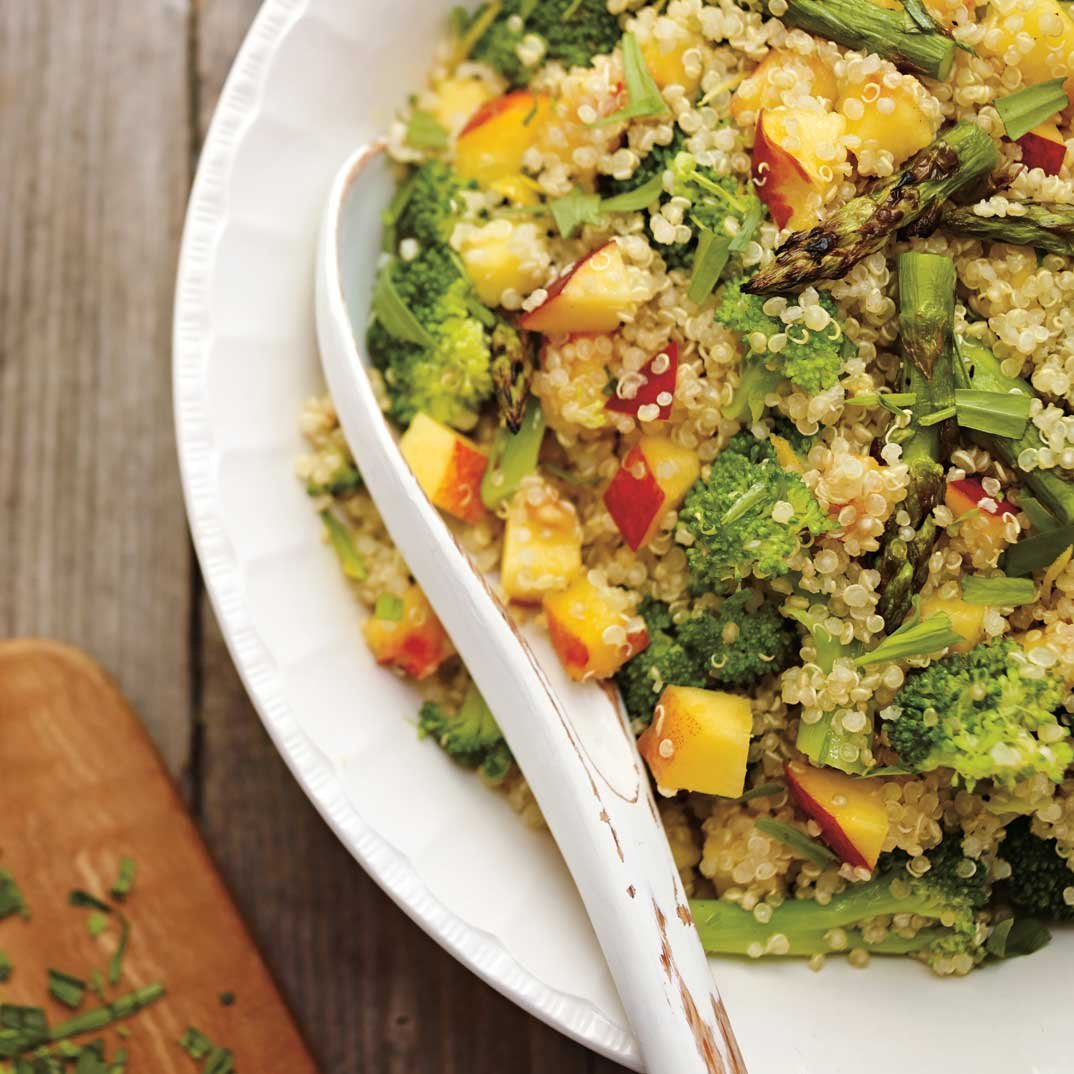 Quinoa Salad with Peaches and Tarragon