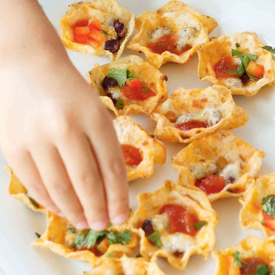 Bouchées de nachos toutes garnies