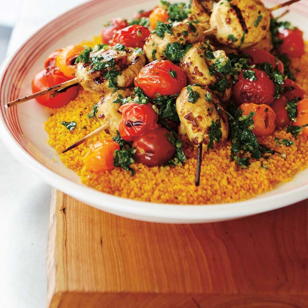 Mushroom and Tomato Skewers