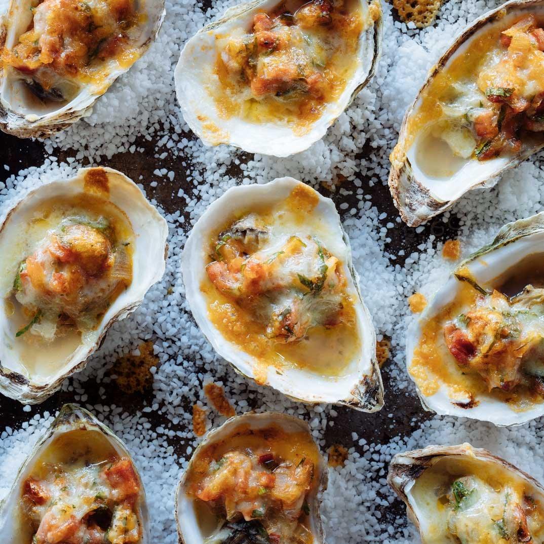 Chorizo Oysters au Gratin