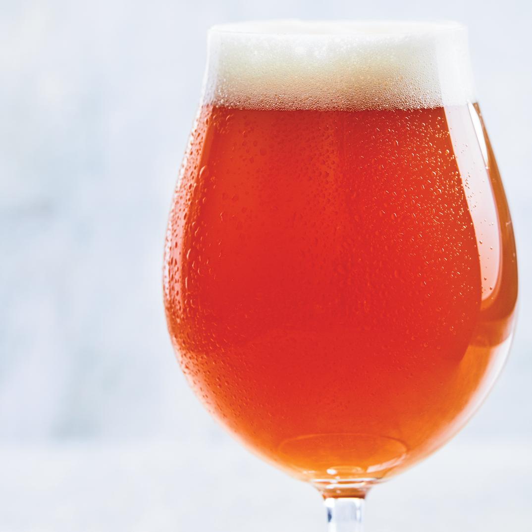 Homemade Cilantro and Orange Beer