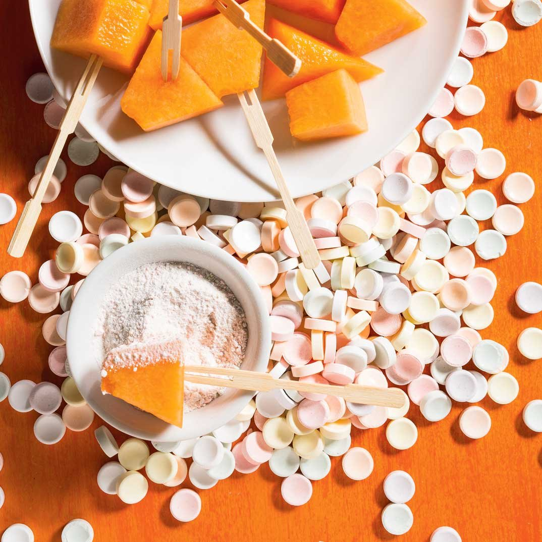 Candy-Coated Cantaloupe