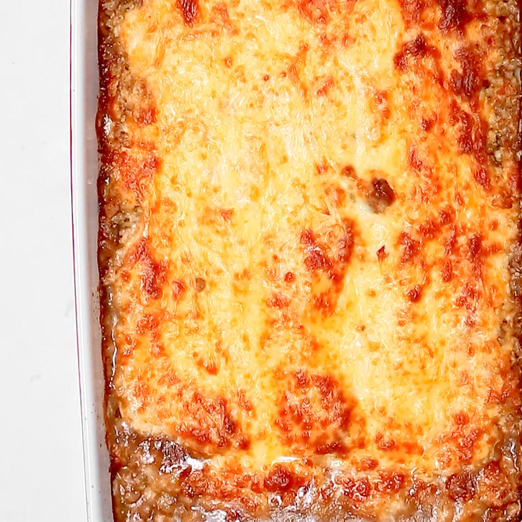 Lasagne au ragoût de boulettes
