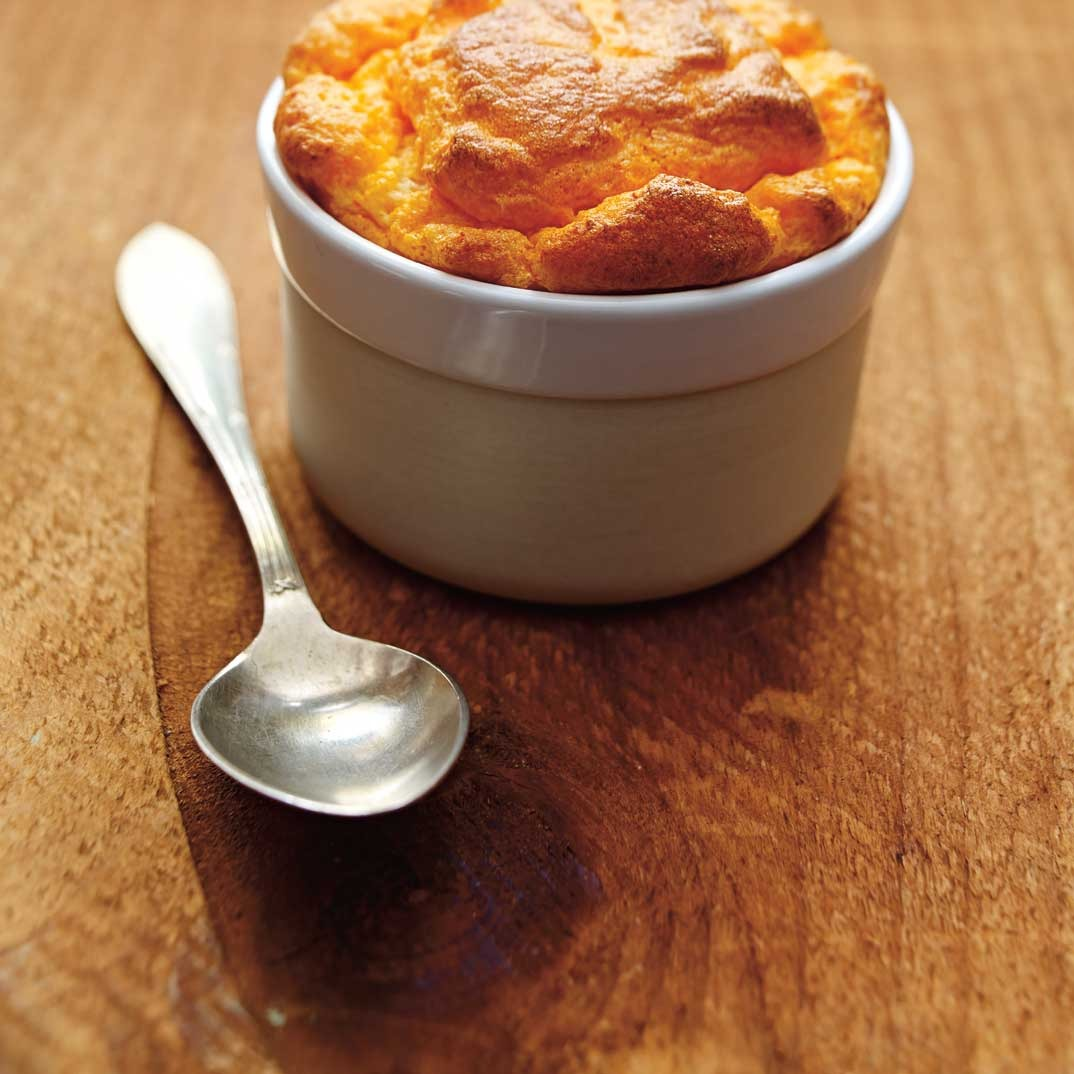Red Bell Pepper and Oka Cheese Soufflé