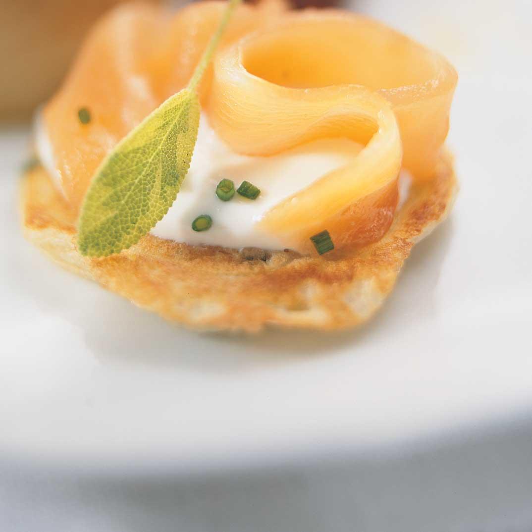 Blini with Smoked Salmon