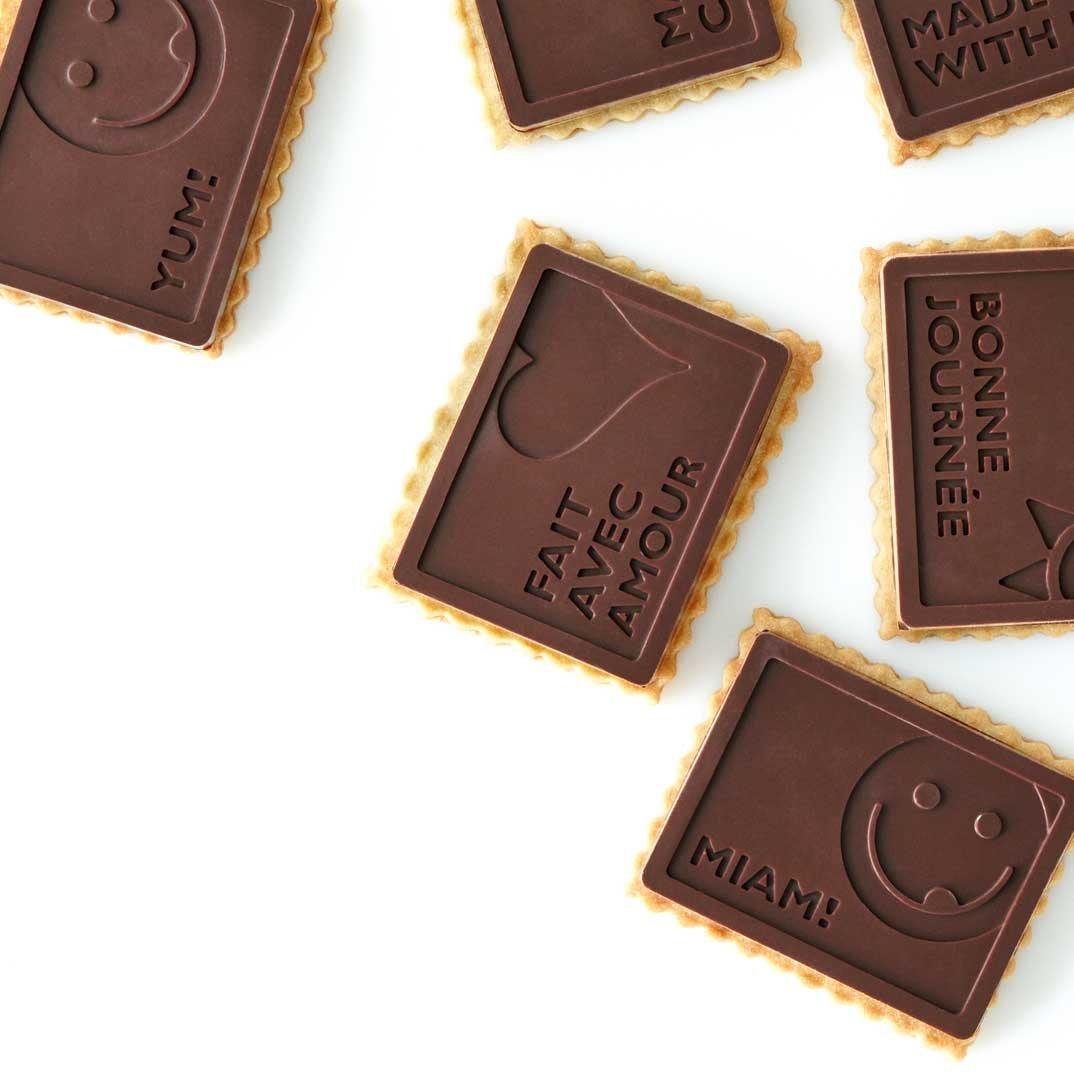 Petits beurre couverts de chocolat