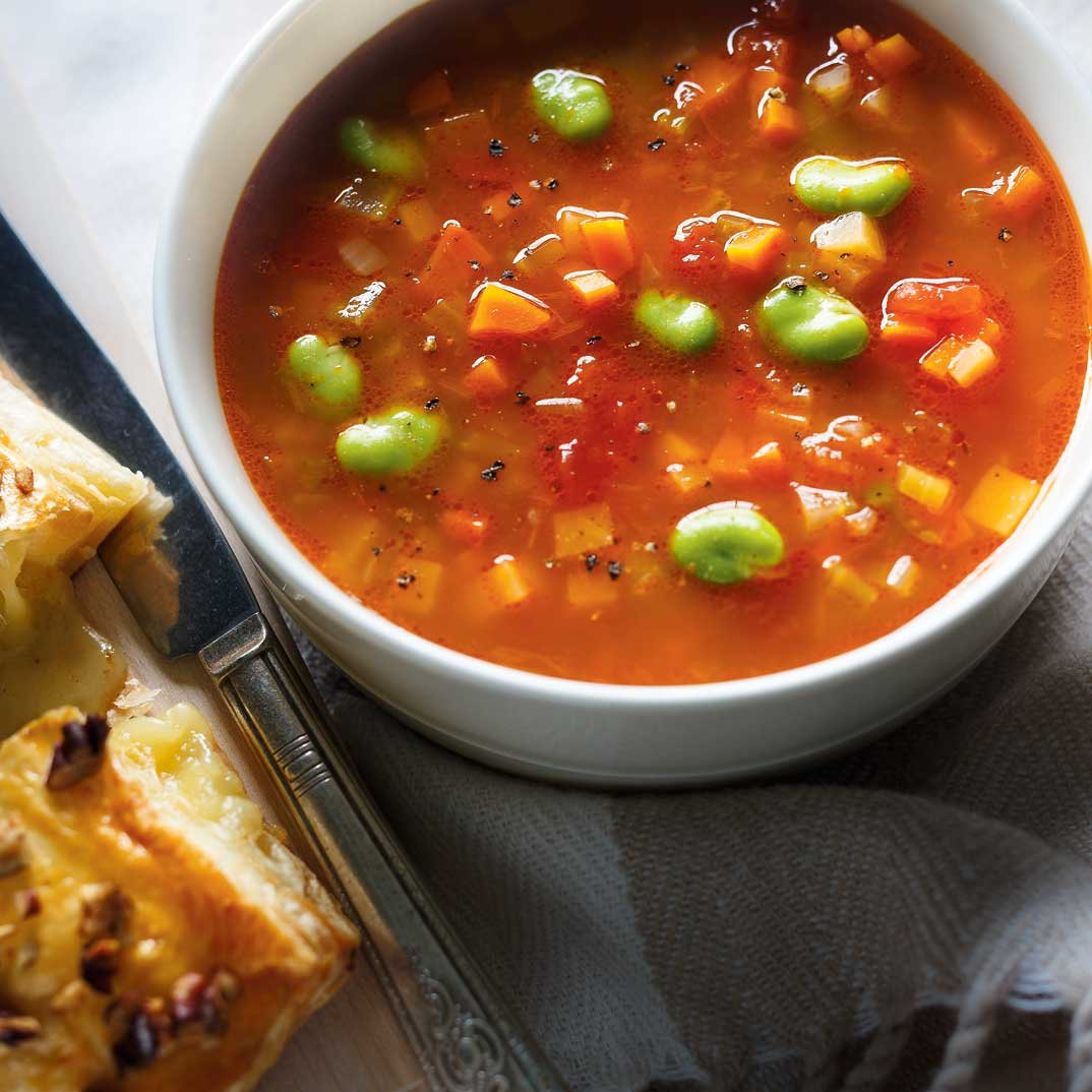 Vegetable and Fava Bean Soup