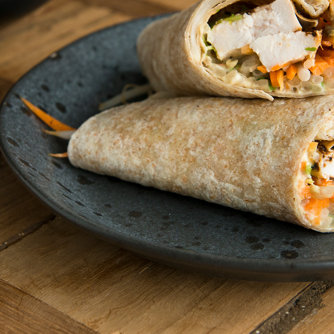 Chicken and Hummus Wraps