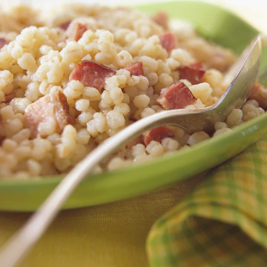 Barley Pilaf with Bacon