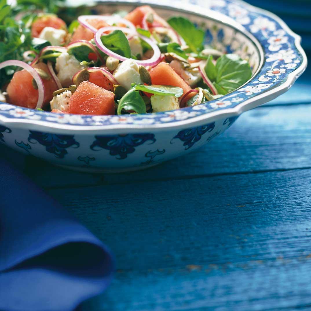 Salade de melon d'eau et de féta