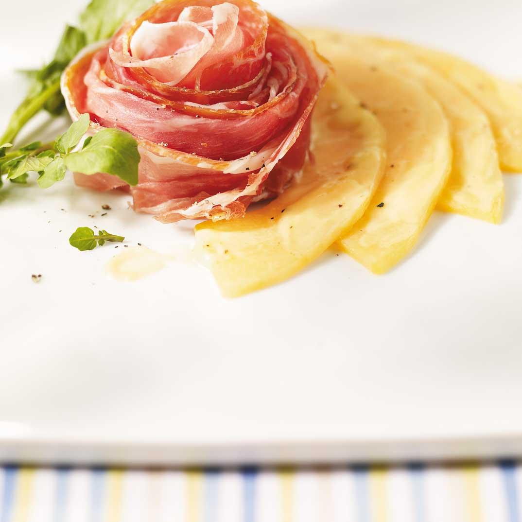 Melon Carpaccio with Prosciutto