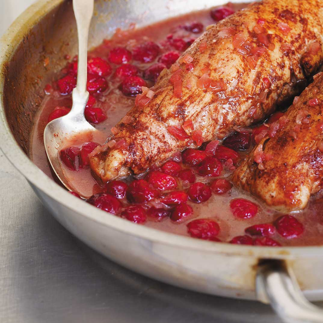 Pork Tenderloins with Cinnamon and Cranberries