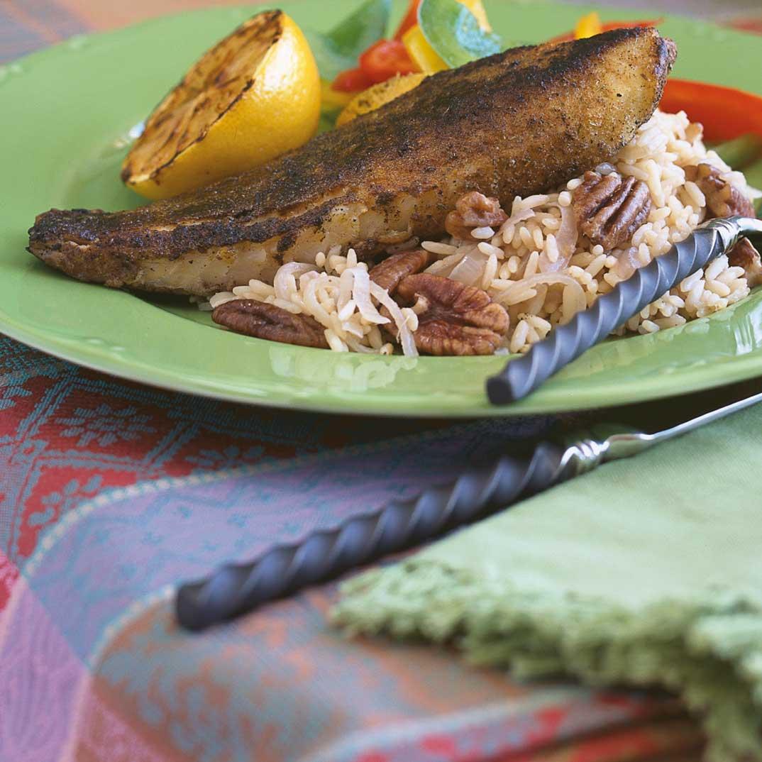 Poisson noirci (blackened fish)