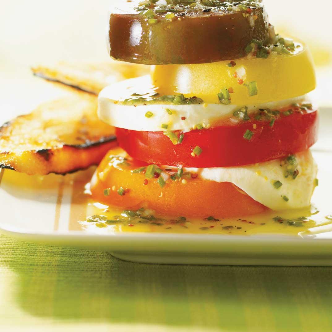 Tomato Napoleon with Chive Vinaigrette