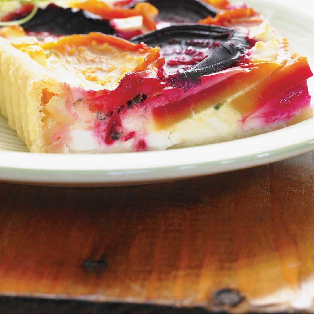 Beet and Feta Cheese Quiche
