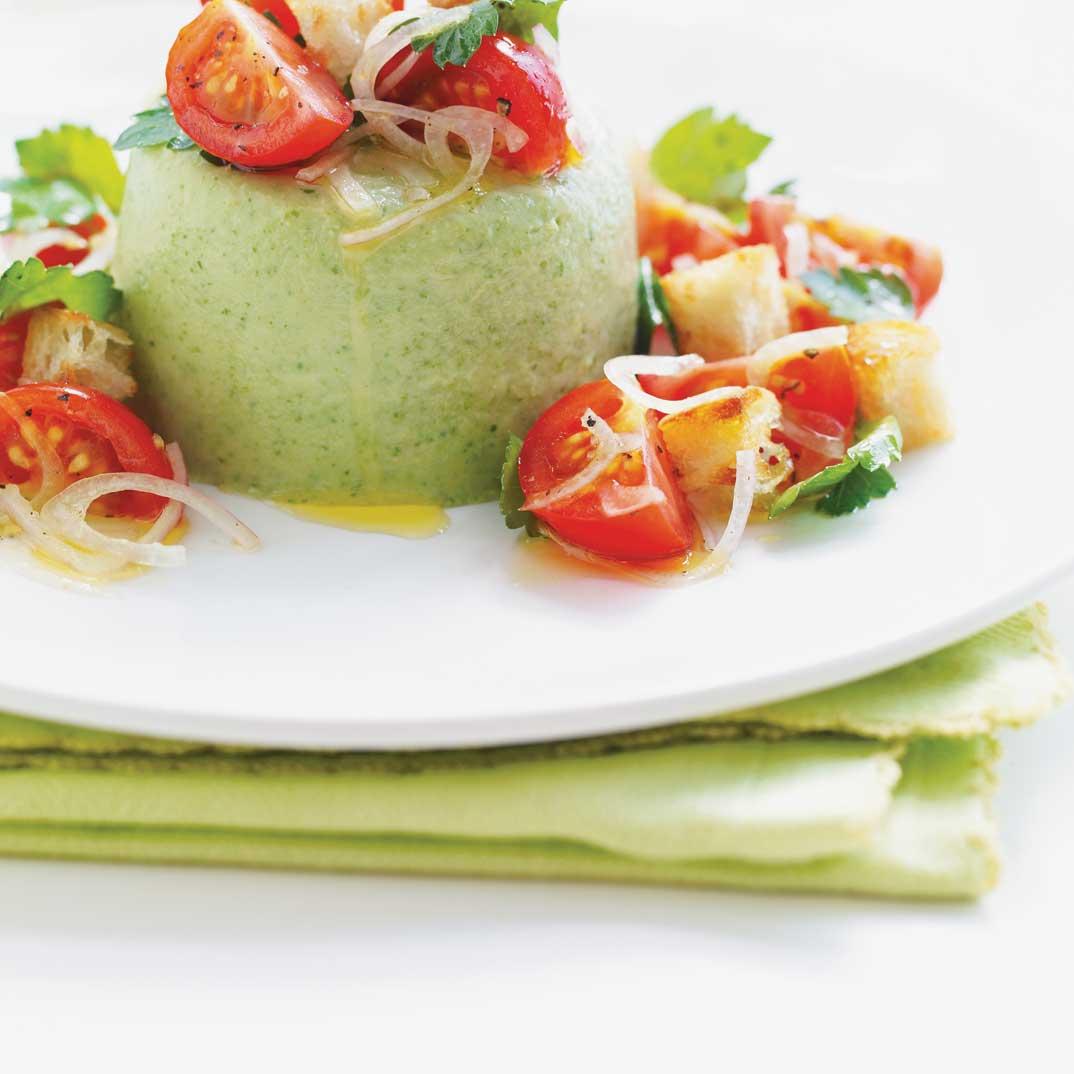Lettuce Panna Cotta Salad