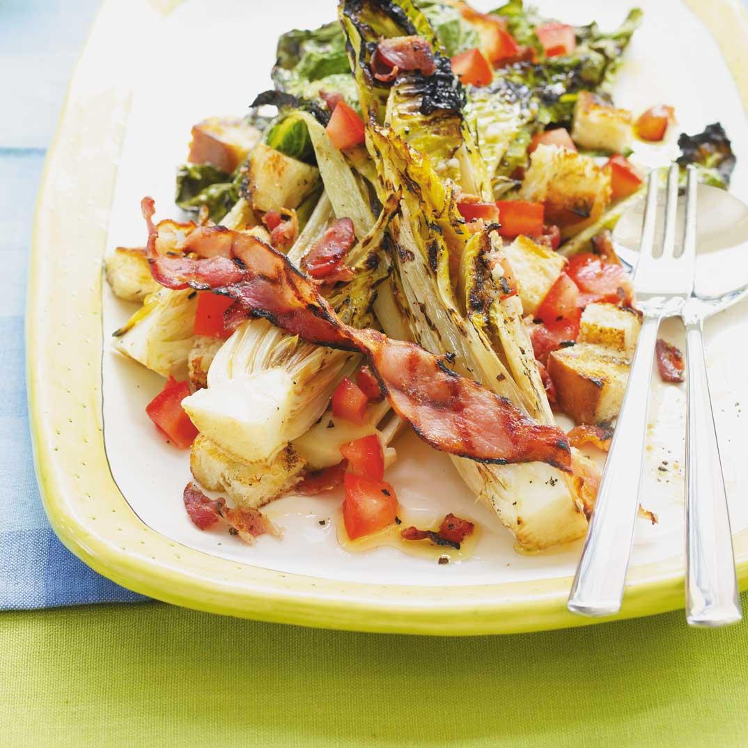 BLT Salad with Grilled Lettuce