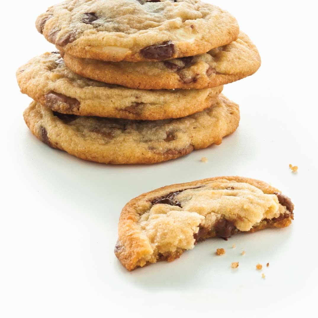Biscuits tendres aux trois chocolats