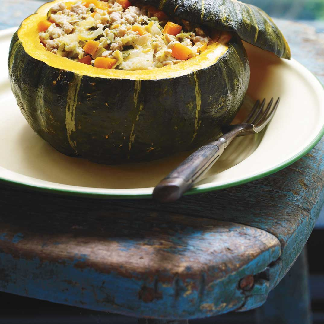 Chicken and Pork Stuffed Squash (A meal in a squash)