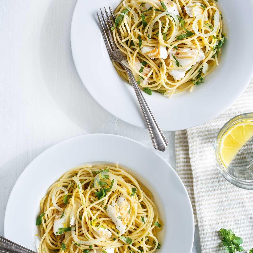 Haddock and Lemon Spaghetti
