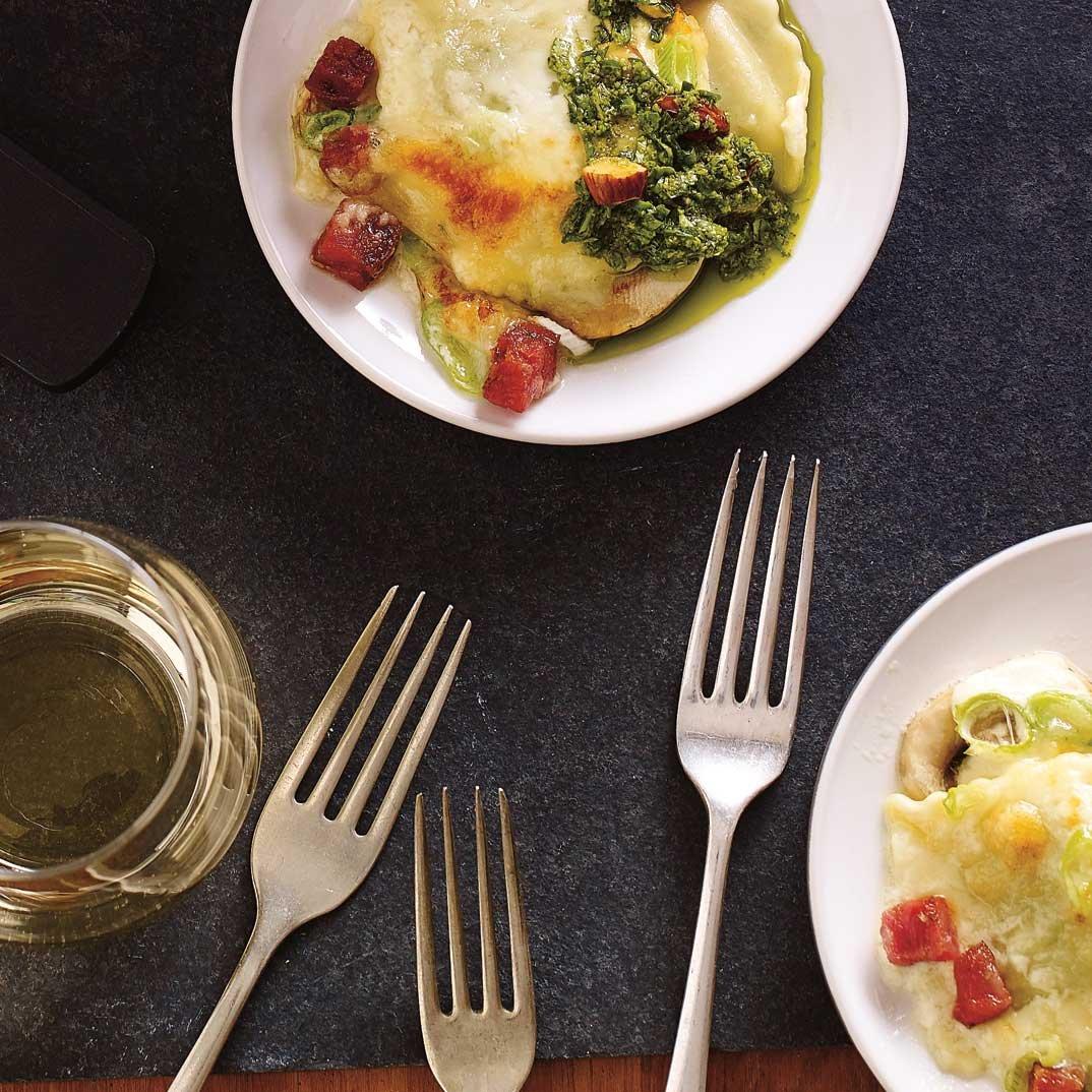 Creamy Ravioli Raclette