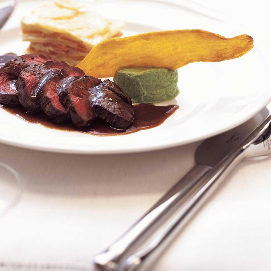 Venison Steak with Great Hunter Sauce